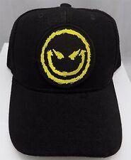 EVIL SMILEY FACE Funny Devil Quality Patch Ball Cap Adjustable Biker CAP-0030
