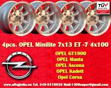 4  Cerchi OPEL VW Minilite 7x13 ET-7 4x100 Wheels Felgen Llantas Jantes