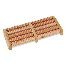 Fußmassageroller Holz Fußmassage 2 x 5 Rollen Fußroller Fußmassagegerät 2 Füße