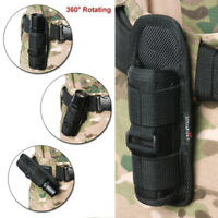 Tactical LED Flashlight Torch Nylon Holster Belt Pouch for Outdoor Hiking Campin