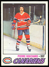 1977 78 OPC O PEE CHEE #20 PIERRE BOUCHARD NM MONTREAL CANADIENS HOCKEY CARD