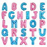 "BIRTHDAY WEDDING PARTY FOIL AIR FILL ONLY ALPHABET LETTER BALLOONS A-Z 16"" TALL"