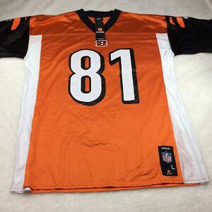 Reebok NFL Terrell Owens Cincinnati Bengals Orange Football Jersey Men's Size L