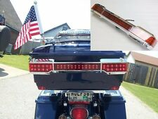 Chrome LED Tail Light Kit Trunk King Tour Pack Wrap Around for Harley Touring