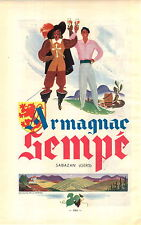"ADVERTISEMENT "" Mini Poster "" Vineyard Wine Armagnac Sempe Sabazan Gers"