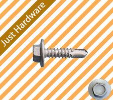Class 3 Galvanised Hex Head Self Drilling Screw 10-16 x 16mm 1000 PC Metal Steel