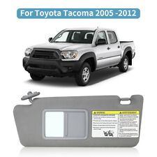 Gray Right Passenger Side Windshield Sun Visor Mirror Assembly without Sunroof ZENITHIKE Sun Visor for Toyota Tacoma 2005 2006 2007 2008 2009 2010 2011