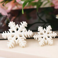 10/30 Pcs White Snow Flake Merry Christmas Xmas Resin Flat Backs Craft HVPYW