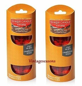 YANKEE Candle AUTUMN IN THE PARK SCENT Plug Home Fragrance Oil Electric REFILLS