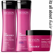 Revlon Professional Be Fabulous Daily Care Normal/Thick Hair Trio Sham Cond Trea