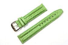 Jacques Lemans Lederband Ersatzband Uhrenarmband hellgrün 20 mm Stegbreite