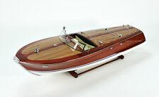 "Riva Corsaro Handmade Wooden Classic Boat Model 34"" RC Ready"