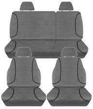 FULL CAR PACK 14oz CANVAS SEAT COVERS FOR NISSAN NAVARA D40 DUAL CAB ST 07-15