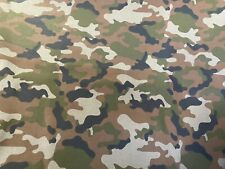 New 100% Cotton Army Camouflage Camo Print Fabric Sold By The Yard (1 Yard)