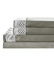 Steel Gray Crochet Hem Sheet Set, Size: King  NEW IN UNOPENED PACKAGE