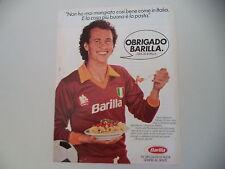 advertising Pubblicità 1983 PASTA BARILLA e PAULO ROBERTO FALCAO AS ROMA CALCIO