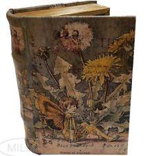 Medieval Fairy Secret Storage Book Box Stash Box Faux Leather Over Wood