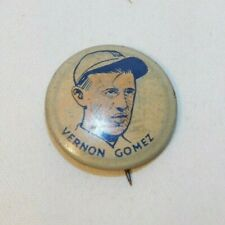 RARE 1930 Cracker Jack Baseball Pin Vernon Gomez Hall of Fame Player