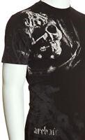 Archaic AFFLICTION Men T-Shirt MASKED Skull Tattoo Fight Biker MMA UFC M-4XL $40