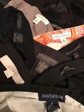 Mixed Lot 9 Skirts Pants Zara Banana Republic Express Ann Taylor Loft Sz 6 M