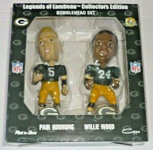 Legends of Lambeau Green Bay Packers Bobblehead Set #2 Paul Hornung, Willie Wood