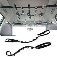 2PCS Car Fishing Rod Belt Rack Strap Holder Carrier Tie Suspenders Wrap Travel