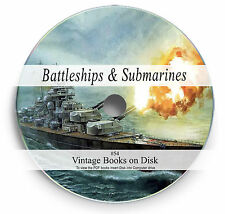 Rare Books on DVD Submarine Warships WW1 WW2 Navy Battleship Torpedo War Ship 54