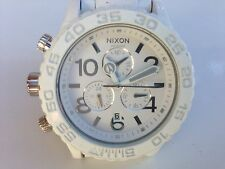 "Nixon Minimize 42-20 Wrist Watch White Stainless Steel Band ""@""LOW PRICE ""L@@K"""