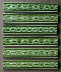 6 GERMANY - ANTIQUE ART NOUVEAU MAJOLICA BORDER TILE C1900