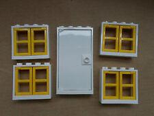NUOVO LEGO BIANCA PORTA & 4 finestre con persiane Giallo AMICI CASA CITY DISNEY