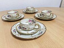 Rosenthal DIPLOMAT ELFENBEIN 4 Teegedecke Teetassen Porzellan
