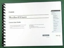 Canon PowerShot G1 X Mark III Instruction Manual: 231 Pages & Protective Covers