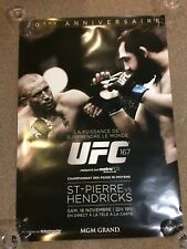 Ultimate GSP UFC POSTER unsigned COLLECTION UFC 167 129 158 124 111 154 & bonus