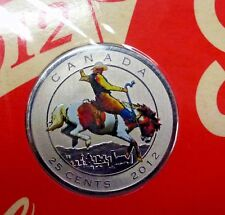 2012 Canada 25 Cent colorized Calgary Stampede w/ stamps, SEALED