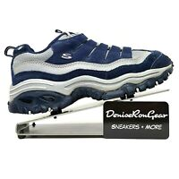 Skechers Womens Blue Sport Trail Leather Sneaker Shoes Size US 7.5