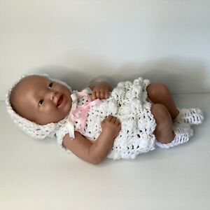 Berenguer Newborn Baby Doll 02-10 Vinyl Smiling 36 cm long Homemade Clothes