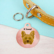 Yorkshire Terrier Personalised Dog Collar Name Tag Copper ID pet tag Charm