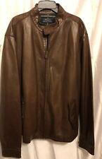 Authentic Polo Ralph Lauren Big And Tall Leather Barracuda Jacket