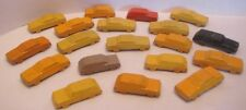 19 Old Miniature Lead Cars for Architecture Model City / Train Layout Display