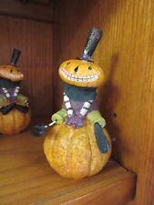 New resin Halloween primitive Grinning Goblin pumpkin man on pumpkin figurine