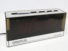 Vintage Spartus Big Face Red LCD Alarm Clock Digital Desk Table top