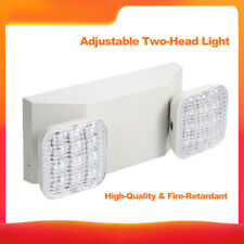 LED Emergency Exit Light Adjustable Dual Head Battery Back-up Residential Z0S7
