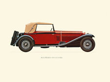 Canvas Print Vintage Car Poster Illustration - ALFA-ROMEO 1930 (2.3 LITRE)