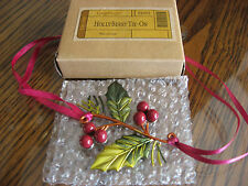 NEW Longaberger 2011 Holly Berry Tie On w/Original Box 4 Your Christmas Basket!