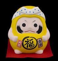 Hucha Daruma Femenino Amarillo Hope Suerte Import Japón De Cerámica 40647
