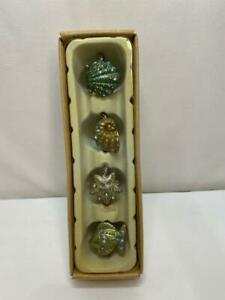 Set of 4 Nautical Sealife Enamel and Crystal Napkin Rings