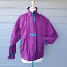 VTG 80's Cabin Creek Color Block Windbreaker Jacket Sz S Purple All Seasons Coat