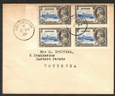 Ascension Is 1935 2d (sg32) marginal block of 4 - 6 MY 35 cds (first day)