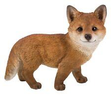 Vivid Arts - Real Life Standing Fox Cub Home or Garden Decoration (XRL-FCB1-D)