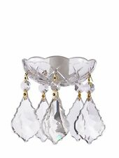 Asfour Crystal 30% Lead Crystal Bobeche Lamp Chandelier Parts Set of 25